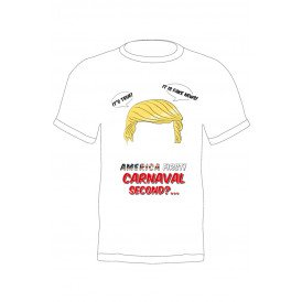 T-shirt Trump America first carnaval second heren