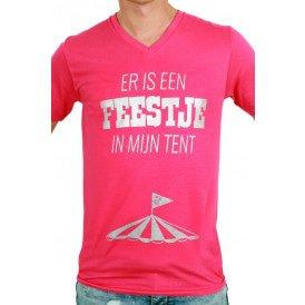 T-shirt heren 'Feestje tent'