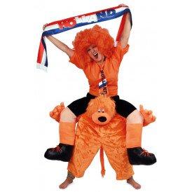 Oranje supporter op leeuw one size