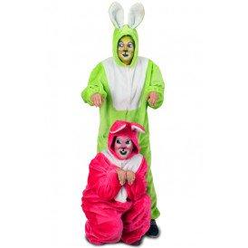 Haas kostuum fluor groen unisex