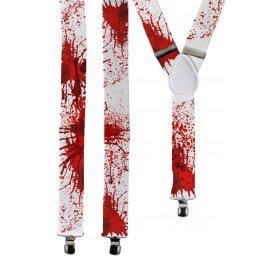 Bretel wit met bloed