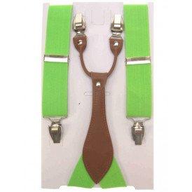 Bretel luxe fluor groen met leder