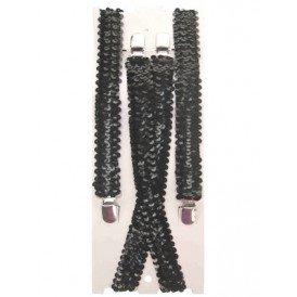 Bretel zwart pailetten