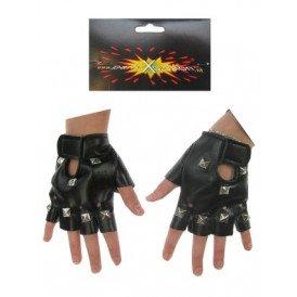 Punk handschoenen zwart
