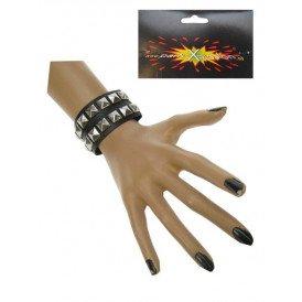 Punk armband 2 rijen nagels
