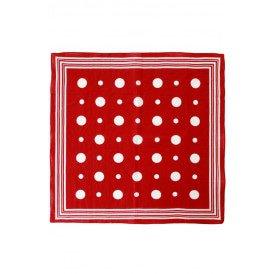 Zakdoek rood met witte bolletjes en