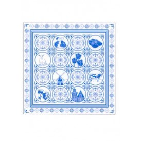 Zakdoek delfts blauw 59 x 59 cm