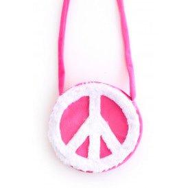 Schoudertas hippie roze