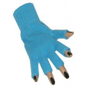 Vingerloze handschoen turquoise
