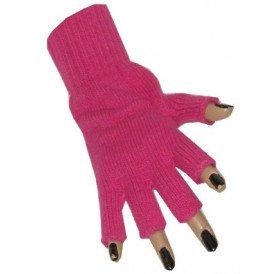 Vingerloze handschoen fuchsia