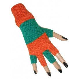 Vingerloze handschoen oranje/groen