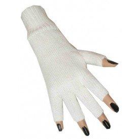 Vingerloze handschoen wit