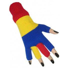 Vingerloze handschoen rood/geel/blauw