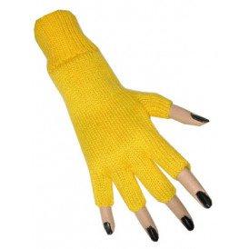 Vingerloze handschoen geel