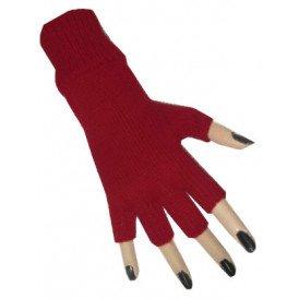 Vingerloze handschoen rood