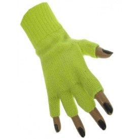 Vingerloze handschoen fluor geel