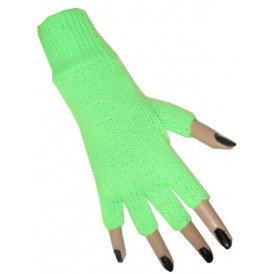 Vingerloze handschoen fluor groen