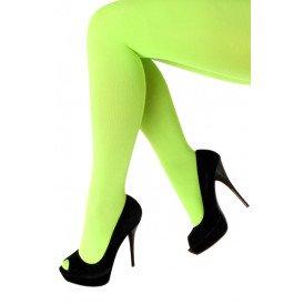 Panty 60 den microfiber fluor groen one size