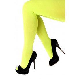 Panty 60 den microfiber fluor geel one size