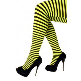 Panty streep geel/zwart one size