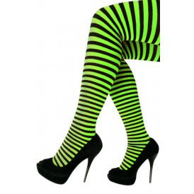 Panty streep groen/zwart one size