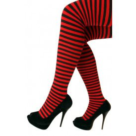 Panty streep rood/zwart one size