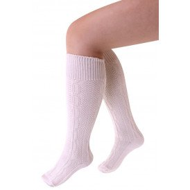 Tiroler sokken kort deluxe ecru