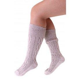 Tiroler sokken kort deluxe grijs