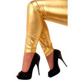 Legging metallic goud kids