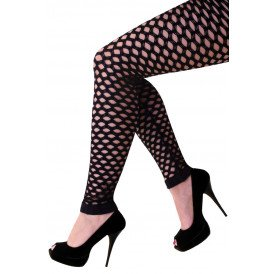 Dames naadloze gaten zwart stretch legging