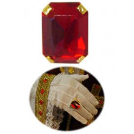 Sintring rechthoekige rode steen luxe