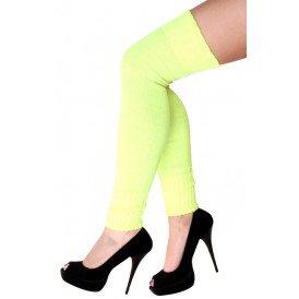 Fluor groene overknees