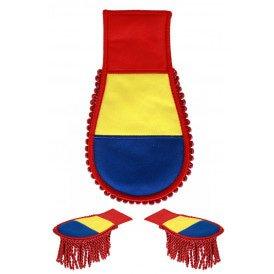 Set schouder epaulette Venlo rood/geel/blauw