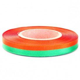 Medaille lint oranje/groen 25 meter op rol