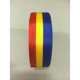 Medaille lint rood/geel/blauw 25 mt