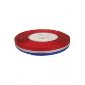 Medaille lint rood/wit/blauw 25 mtr