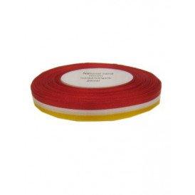 Medaille lint rood/wit/geel 25 mtr op rol 10 mm