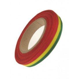 Medaille lint rood/geel/groen 25 meter op rol