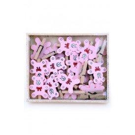 Wasknijpertje beertje roze per 19