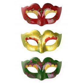 Midi Decoratie oogmasker rood/geel/