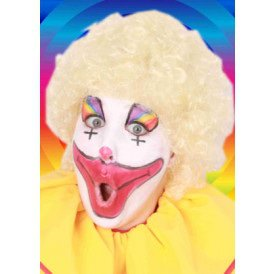 Pruik hippy of clown blond