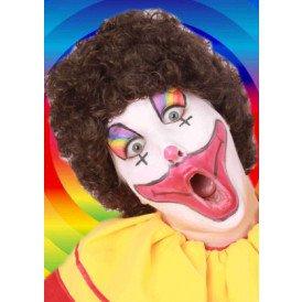 Pruik hippy of clown bruin