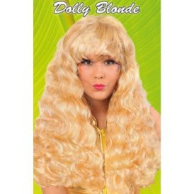 Pruik krul blond Dolly