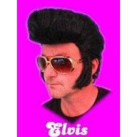 Pruik Elvis zwart