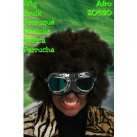 Pruik trendy afro zwart