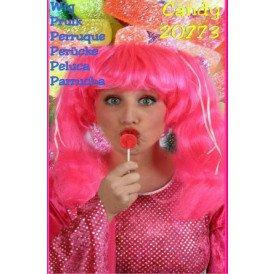Pruik candy pink