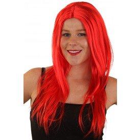 Pruik rood lang haar