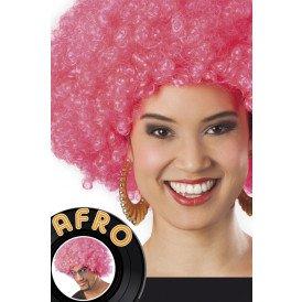 Pruik Afro Pink