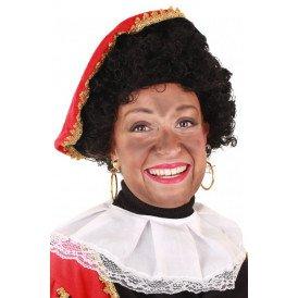 Pruik Piet krul verstelbaar zwart