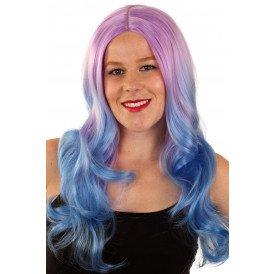 Pruik Lexi lila/blauw